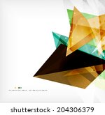 abstract sharp angles... | Shutterstock .eps vector #204306379