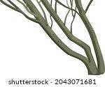 abstract graceful tree trunks... | Shutterstock .eps vector #2043071681