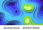 colorful paper cut earth map...   Shutterstock .eps vector #2043073064