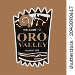 oro valley on a brown background | Shutterstock .eps vector #2043090617
