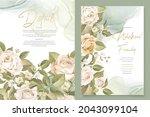 elegant floral invtation card... | Shutterstock .eps vector #2043099104