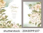elegant floral invtation card... | Shutterstock .eps vector #2043099107