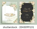 elegant floral invtation card... | Shutterstock .eps vector #2043099131