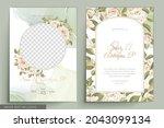 elegant floral invtation card... | Shutterstock .eps vector #2043099134