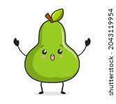 pear cartoon illustration pear...   Shutterstock .eps vector #2043119954