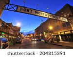 fort worth  teas  usa    march. ... | Shutterstock . vector #204315391