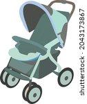 baby stroller clipart  kids... | Shutterstock .eps vector #2043173867