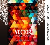 abstract triangle banner with... | Shutterstock .eps vector #204317905