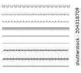 vector decoration borders   Shutterstock .eps vector #204318709