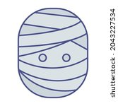 mummy head fill inside vector... | Shutterstock .eps vector #2043227534