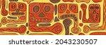 abstract creatures in ethnic... | Shutterstock .eps vector #2043230507