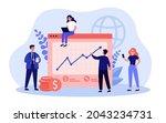 team of business cartoon... | Shutterstock .eps vector #2043234731