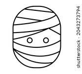 mummy head outline bold vector... | Shutterstock .eps vector #2043273794
