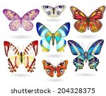 set of realistic colorful ... | Shutterstock .eps vector #204328375