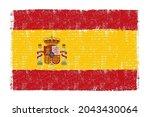 grunge vintage spanish flag... | Shutterstock .eps vector #2043430064