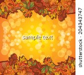 autumn leaf background | Shutterstock .eps vector #204343747