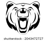 bear head  grizzly head  wild...   Shutterstock .eps vector #2043472727