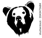 bear head  grizzly head  wild...   Shutterstock .eps vector #2043473684