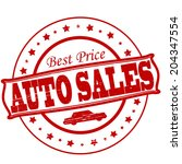 stamp with text auto sales...   Shutterstock .eps vector #204347554