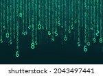 blue matrix digital background. ...   Shutterstock .eps vector #2043497441