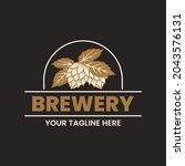 brewery logo design template....   Shutterstock .eps vector #2043576131