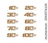 set of anniversary logo design. ...   Shutterstock .eps vector #2043576134