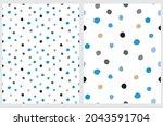 cute abstract seamless vector...   Shutterstock .eps vector #2043591704