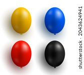 set of colorful air balloons.... | Shutterstock .eps vector #2043624941