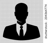people profile silhouettes.... | Shutterstock .eps vector #204364774
