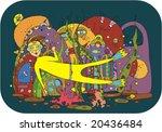 man the diver in the underwater ...   Shutterstock .eps vector #20436484