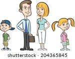vector illustration of happy... | Shutterstock .eps vector #204365845