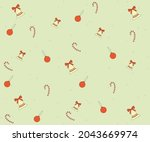 christmas seamless pattern with ... | Shutterstock .eps vector #2043669974