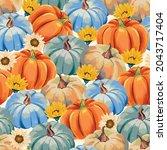 Fall Seamless Pattern With...
