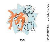 chinese horoscope. zodiac of... | Shutterstock .eps vector #2043742727