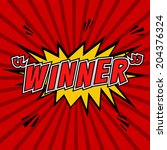 Winner    Comic Speech Bubbles...