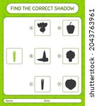 find the correct shadows game... | Shutterstock .eps vector #2043763961