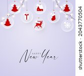 merry christmas and happy new... | Shutterstock .eps vector #2043770504