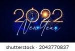 happy 2022 new year elegant... | Shutterstock .eps vector #2043770837