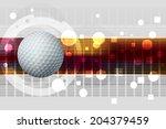 golf ball | Shutterstock .eps vector #204379459