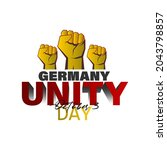 germany unity day 3rd october.... | Shutterstock .eps vector #2043798857