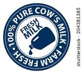 blue fresh milk  100 percent...   Shutterstock . vector #204381385