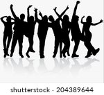 people silhouettes | Shutterstock .eps vector #204389644