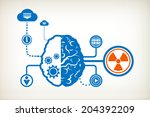 radiation and abstract human... | Shutterstock .eps vector #204392209