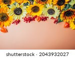 Fall Autumn Floral Background....
