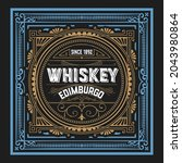 whiskey label with old frames   Shutterstock .eps vector #2043980864