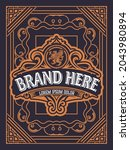 western card with vintage style   Shutterstock .eps vector #2043980894