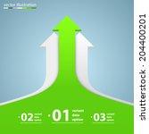 vector arrows business growth | Shutterstock .eps vector #204400201