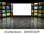tv screeen with images | Shutterstock . vector #204401029