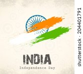 indian independence day... | Shutterstock .eps vector #204401791