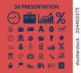 30 presentation icons set ... | Shutterstock .eps vector #204403375